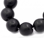 Abalorio bola howlita sintética negra 12mm. Agujero 1mm