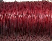 Cordon de algodon 1mm rojo oscuro. Precio por metro
