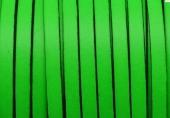 20 cms. Cuero plano 5x1,5mm. verde borde negro. Calidad superior