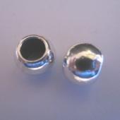 Bola maciza aleación de metal color plata vieja 11mm. Pase 6mm