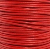 1 metro. Cordon de cuero 3mm rojo