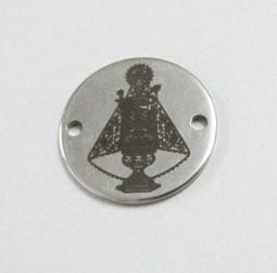 Conector Virgen Covadonga. Acero inoxidable 20mm. Agujeros 1,5mm.
