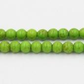 Abalorio bola howlita sintética verde 12mm. Agujero 1mm