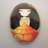Cabuchon cristal niña 30x40. Mod. 118