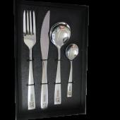 Cubiertos personalizados cuchara redonda con caja negra. Plazo 3-4 días laborables.