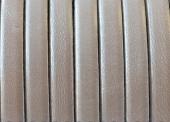 20 cms. Cuero plano 5x1,5mm. blanco metalizado. Calidad superior