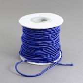 1 metro. cordon elastico 2mm azul oscuro