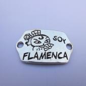 Conector metálico Soy flamenca 39x23. Pase 4mm.