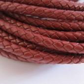 20 cms. Cuero redondo trenzado 5mm. marrón granate
