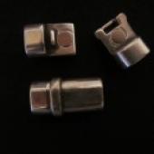 Cierre magnético con tope seguridad para cuero regaliz 10x7