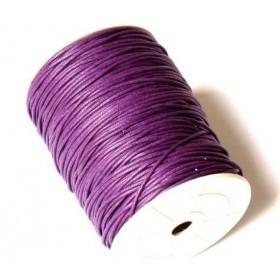 cordon de algodon 2mm color violeta. 1 metro
