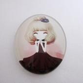 Cabuchon cristal niña 30x40. Mod. 108