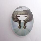 Cabuchon cristal niña 30x40. Mod. 101