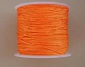 Hilo nylon trenzado 1mm naranja. (91 metros bobina)
