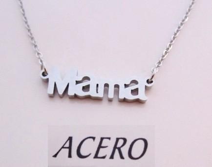 Colgante acero inoxidable letras mama 25x7mm. Cadena 45 cms.