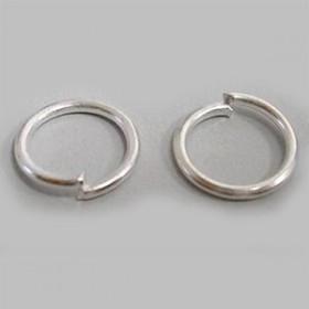 Argollitas color plata 5mm x 1mm.(Aprox 225 unid) - 20 GR