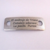 Conector inoxidable 41x14x1mm. pase 5mm.  El embrujo de Triana