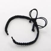 Base pulsera Nylon macrame Negra. Tamaño Pequeño 100-110mm.