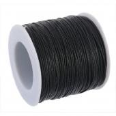 Bobina cordón de algodón negro 1mm. 91 metros