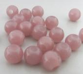 20 unidades.Abalorio resina 8mm pase 2,9~3mm. Rosa marrón
