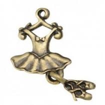 1 unidad. colgantes de metal bailarina 25x12x2mm bronce antiguo