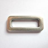 Entrepieza rectangular zamak baño de plata. 39x18mm