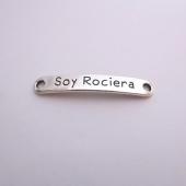 Conector metal soy rociera 43x7mm. Agujero 2,5mm