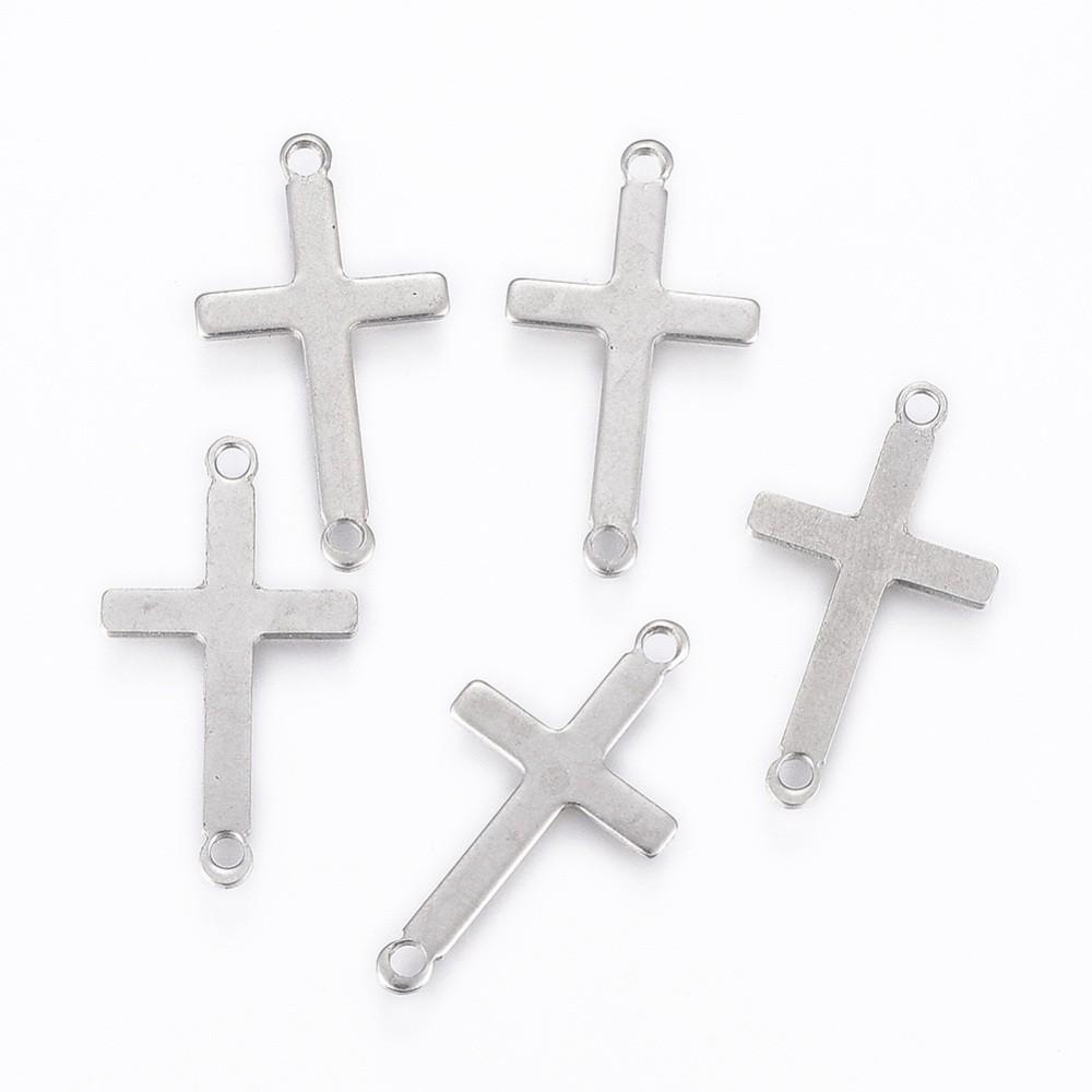 Conector cruz acero inoxidable 23x12.5x0.8mm, Agujero: 1.5mm