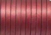 20 cms. Cuero plano 5x1,5mm. rojo metalizado. Calidad superior