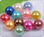 20 unidades. Abalorios acrilicos mix colores 10mm. Pase 2,5mm