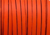 20 cms. Cuero plano 5x1,5mm. Naranja fluor borde negro. Calidad superior