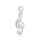 Colgante nota musical acero inoxidable 16.3x5.3x1mm. Agujero 1,5mm