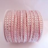 Antelina strass 5mm rosa claro. (Precio por metro)