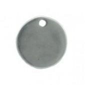 Grabado laser colgante 19mm. Zamak baño de plata 19mm. Agujero 2mm (Máximo 25 carácteres) (PLAZO 2-5 DÍAS)