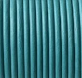 1 metro. Cordon de cuero 3mm turquesa (Importación)