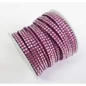 Antelina strass 5mm lila. (Precio por metro)