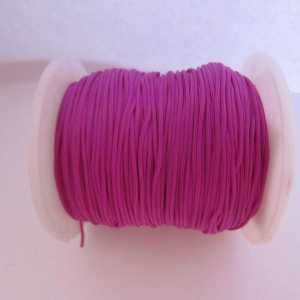Hilo nylon trenzado 1mm morado. (91 metros bobina)