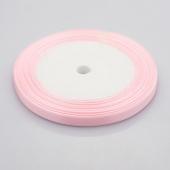 Cinta satinada 7mm rosa bebe rollo 22m