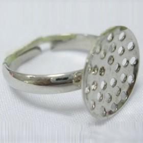 1 unidad. Bases anillos regadera 19mm ajustable color platino