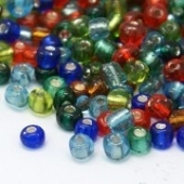 Rocalla 3mm. Agujero 1mm - 10 Gramos Mix colores