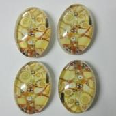 1 Unidad.Cabuchon oval cristal 18x13mm arbol