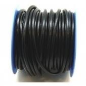 1 Metro. Cordón de cuero negro 4mm.
