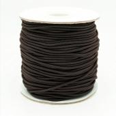 1 metro. Cordón elástico 2mm. Marrón oscuro