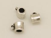 Colgante zamak tubo con anilla 8x8mm. Pase 4,5mm Anilla 2mm. Baño de plata