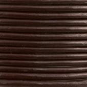 1 metro. Cordon de cuero 3mm marron oscuro (Importación)