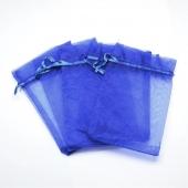 Bolsitas organza azul 7x9cm.