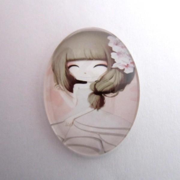Cabuchon cristal niña 30x40. Mod. 111