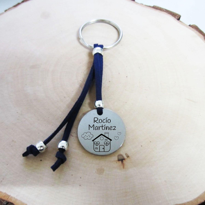 Kit de Montaje. Identificador de mochila aleación de metal y antelina. Medalla Acero Inoxidable. (Se entrega sin montar)