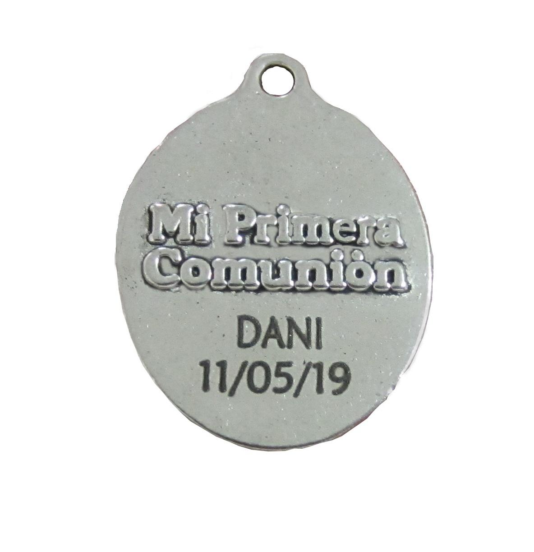 Kit de montaje pulsera de lunares con medalla mi primera comunion y abalorios de aleación de metal