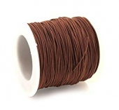 Hilo nylon trenzado 1mm marrón medio. (91 metros bobina)